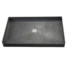 "Tile Redi 3054C Single Curb 30"" x 54"" Shower Pan with 2"" Center Drain"