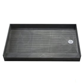 "Tile Redi 3760R Single Curb 37"" x 60"" Shower Pan with 2"" Right Drain"