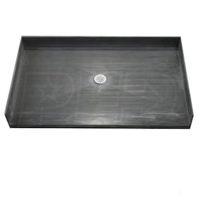 "Tile Redi 4260CBF Barrier Free 42"" x 60"" Shower Pan with 2"" Center Drain"
