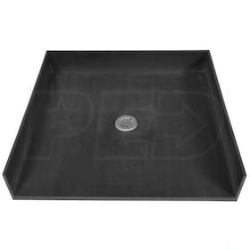 "Tile Redi 4038CBF Barrier Free 40"" x 38"" Shower Pan with 2"" Center Drain"