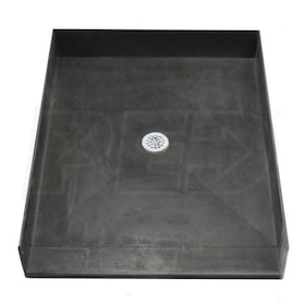 "Tile Redi 4638CBF Barrier Free 46"" x 38"" Shower Pan with 2"" Center Drain"