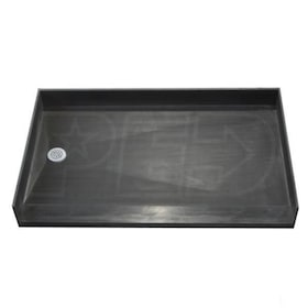 "Tile Redi 3354LBF Barrier Free 33"" x 54"" Shower Pan with 2"" Left Drain"