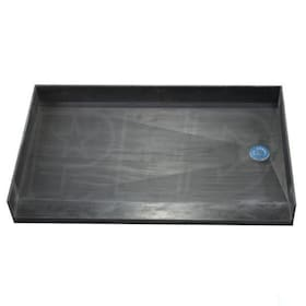"Tile Redi 3754RBF Barrier Free 37"" x 54"" Shower Pan with 2"" Right Drain"