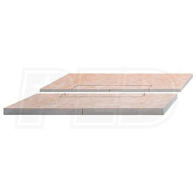 "Schluter KERDI-SHOWER-L - 39"" x 39"" - Shower Tray - Center Drain Placement - 1-1/4"" End Height"