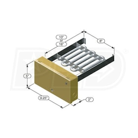 "Electro Industries EM-WC0515H Electric Duct Heater 4.8KW 8""x10"" Insert Element Rack 240V"