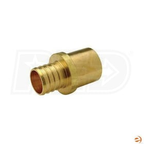 WSD BC7SM7, PEX 1'' Barbed x 1'' CU Spigot Sweat Adapter Fitting