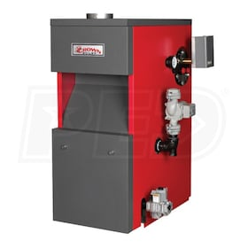 Crown Boiler CWI172 - 144K BTU - 83.2% AFUE - Hot Water Gas Boiler - Chimney Vent