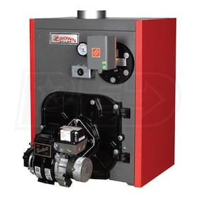 Crown Boiler TWZ125 - 152K BTU - 85.1% AFUE - Hot Water Oil Boiler - Chimney Vent - Includes Tankless Coil