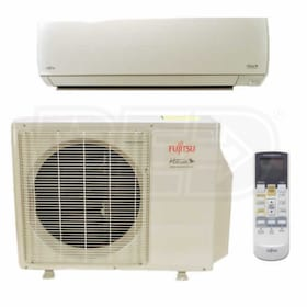 Fujitsu - 15k BTU Cooling + Heating - RLS3 Wall Mounted Air Conditioning System - 25.3 SEER