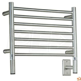 "Amba Jeeves HSP-20 H Straight Electric Towel Warmer, Polished, 20-1/2""W x 18""H x 4-1/2""D - 205 BTU"