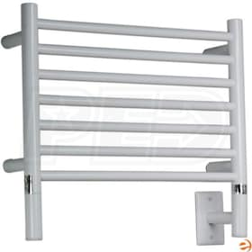 "Amba Jeeves HSW-20 H Straight Electric Towel Warmer, White, 20-1/2""W x 18""H x 4-1/2""D - 273 BTU"