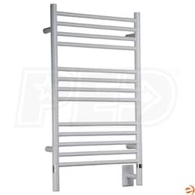 "Amba Jeeves CSW-20 C Straight Electric Towel Warmer, White, 20-1/2""W x 36""H x 4-1/2""D - 597 BTU"