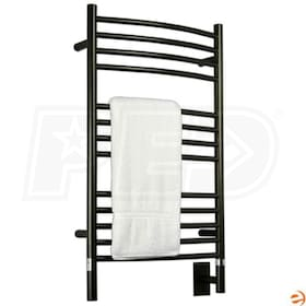 "Amba Jeeves CCO-20 C Curved Electric Towel Warmer, Oil Rubbed Bronze, 20-1/2""W x 36""H x 6-1/2""D - 597 BTU"