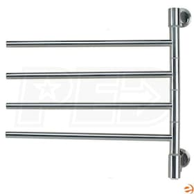 "Amba Swivel J-D004 P Jack D004 Electric Towel Warmer, Brushed, 22""W x 21""H x 3.9""D - 136.4 BTU"