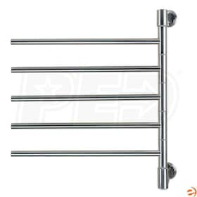 "Amba Swivel J-D005 B Jack D005 Electric Towel Warmer, Polished, 22""W x 25""H x 3.9""D - 170.5 BTU"