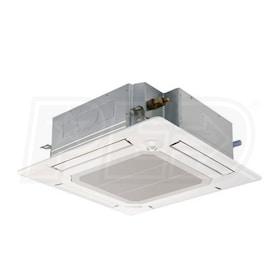 Mitsubishi - 12k BTU - P-Series Ceiling Cassette with Grille - For Multi or Single-Zone