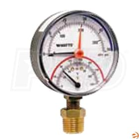 "Watts Radiant Bottom Mount - Temperature and Pressure Gauge - 1/2"" MNPT"
