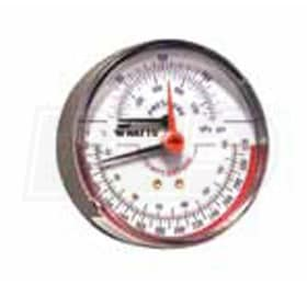 "Watts Radiant Back Mount - Temperature and Pressure Gauge - 1/2"" MNPT"