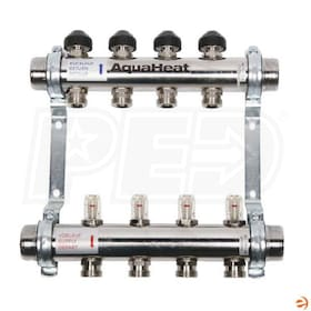 "ComfortPro AquaHeat ProMix 4-Port 1-1/4"" Stainless Steel Flow Balancing Manifold"