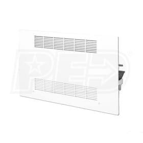 Lanco 'N' Series Floor Console Fan Coil, Left Piping, 208V, 3 Coil Rows (CW or HW with Electric Heat) - 1,000 CFM, 99,588 BTU