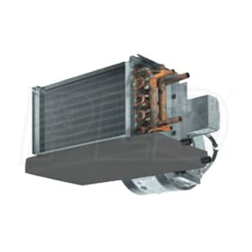Lanco 'C' Series High-Performance Horizontal Fan Coil, Right Piping, 115V, 5 Coil Rows (4 CW 1 HW) - 1,200 CFM, 47,369 BTU