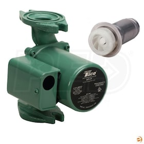 Taco 007-F7-IFC Cartridge Circulator Pump, 1/30 HP, Integrated Flow Check, Cast Iron, Standard Flanged Connection