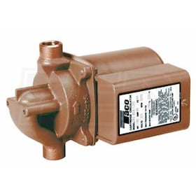 "Taco 003 - 1/40 HP - Zoning Circulator Pump - Bronze - 3/4"" Sweat - Integral Flow Check"