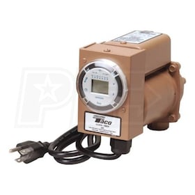 "Taco 003 - Plumb N' Plug - 1/40 HP - Circulator Pump - Bronze - Digital Timer - 1/2"" Sweat"