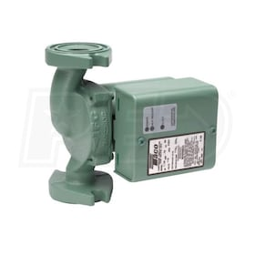 Taco 0011 - 1/8 HP - Variable Speed Circulator Pump - Stainless Steel - Variable Voltage - Rotated Flange