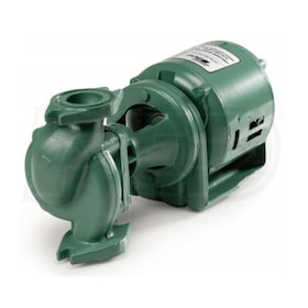 Taco 120 Series - 1/2 HP - In-Line Circulator Pump - Cast Iron - 4-Bolt Round Flange