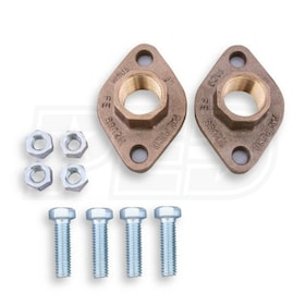 "Taco Freedom Flange - 2-1/2"" - Circulator Pump Four Bolt Flange Set - Bronze - NPT"