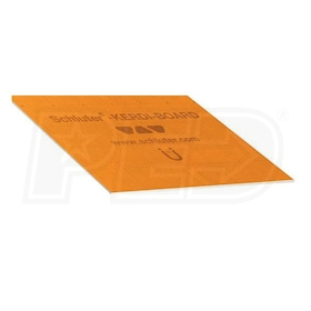 "Schluter KERDI-BOARD - 3/16"" Thick - Waterproof Substrate & Building Panel - 48"" W x 64"" L - Qty. 10"