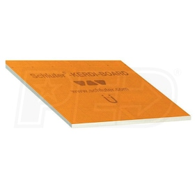 "Schluter KERDI-BOARD - 1/2"" Thick - Waterproof Substrate & Building Panel - 48"" W x 64"" L - Qty. 6"