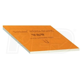 "Schluter KERDI-BOARD - 3/4"" Thick - Waterproof Substrate & Building Panel - 24-1/2"" W x 96"" L - Qty. 6"