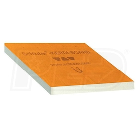 "Schluter KERDI-BOARD - 2"" Thick - Waterproof Substrate & Building Panel - 24-1/2"" W x 96"" L - Qty. 3"