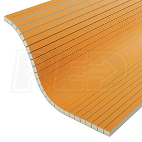 "Schluter KERDI-BOARD-V - 3/4"" Thick - Grooved Waterproof Substrate & Building Panel - 24-1/2"" W x 96"" L - Qty. 6"