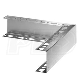 "Schluter KERDI-BOARD-ZC/E - Outside Corner with One Perforated Edge - 2"" Height - Brushed Stainless Steel"