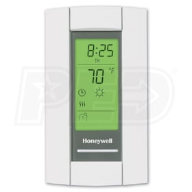 Honeywell TL8230A1003 LineVoltPRO 8000 7-Day Programmable Electric Heat Thermostat, DPST Switching