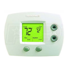 Honeywell TH5110D1022 FocusPRO 5000 Digital Non-Programmable Thermostat, Single Stage, Large Display