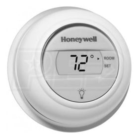 Honeywell T8775A1009 The Digital Round Non-Programmable Thermostat, 24VAC Gas or Oil Heat Only