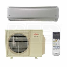 Fujitsu - 24k BTU Cooling + Heating - RLB Wall Mounted Air Conditioning System - 18.0 SEER