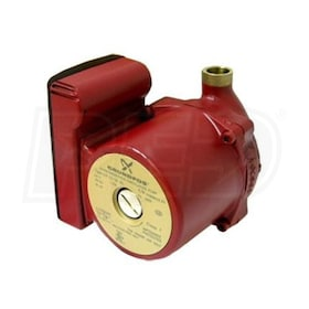 "Grundfos UP - 1/25 HP - Single-Speed Circulation Pump - Bronze - 1/2"" Sweat"