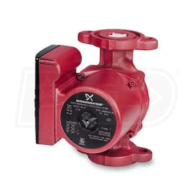 Grundfos UP - 1/12 HP - Single-Speed Circulation Pump - Cast Iron - GF 15/26 Flange