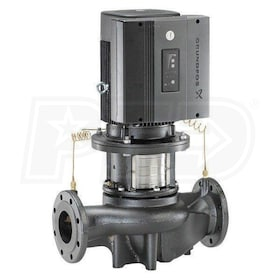 Grundfos TPE100-160/2 E-Circulator Pump with Differential Pressure Sensor, 3 HP, BUBE Seal, Cast Iron, 460-480V, GF 100 Flange Mount