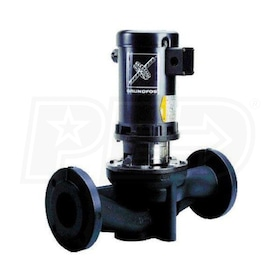 Grundfos TP50-160/2 Direct Coupled In-Line Circulator, 1-1/2 HP, RUUE Seal, Cast Iron, 115/208-230V, GF 50 Flange Mount