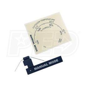Aprilaire Humidifier Resistor Case and Manual Mode Label