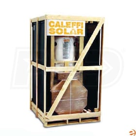 Caleffi 50 Gal Complete Solar Water Heating System, Single Coil, One 4' x 6.5' Collector