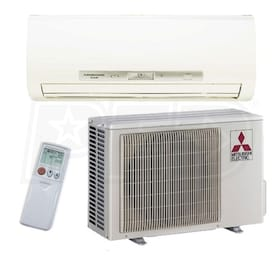 Mitsubishi M-Series - Hyper-Heating - 18,000 BTU - Ductless Heat Pump System - Wall Mounted - 20.2 SEER - 10.3 HSPF