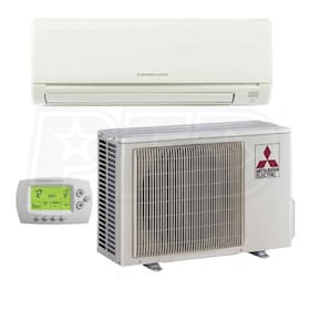 Mitsubishi P-Series - 30,000 BTU - Ductless Air Conditioning System - Wall Mounted - 15.5 SEER