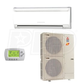 Mitsubishi - 36k BTU Cooling + Heating - P-Series H2i Wall Mounted Air Conditioning System - 16.2 SEER